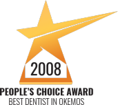 "2008  People's Choice Award for ""Best Dentist in Okemos"""